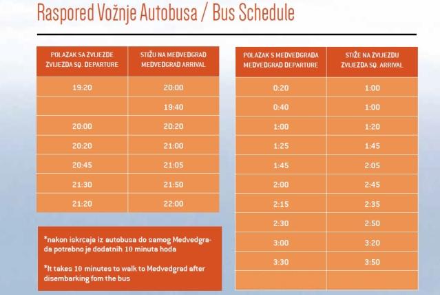 raspored buseva za medvedgrad